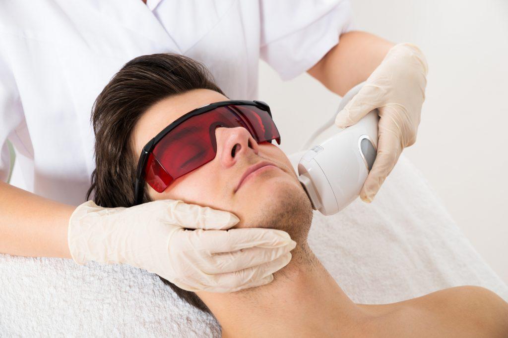 Лазерная эпиляция волос на лице в салоне Грааль