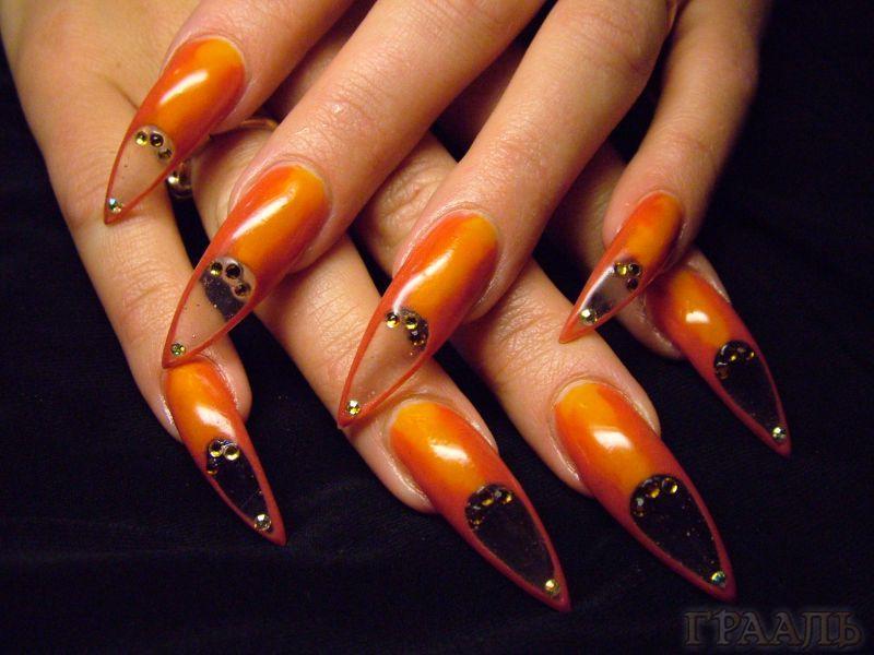 Наращивание ногтей Калгель в салоне «ГРААЛЬ»